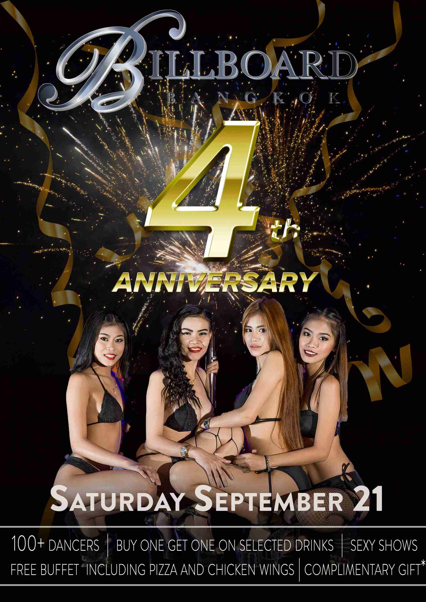 Billboard 4th Anniversary Party Poster