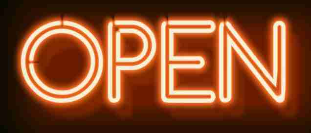 We Are Open Sign Billboard Bangkok Nana Plaza Thailand