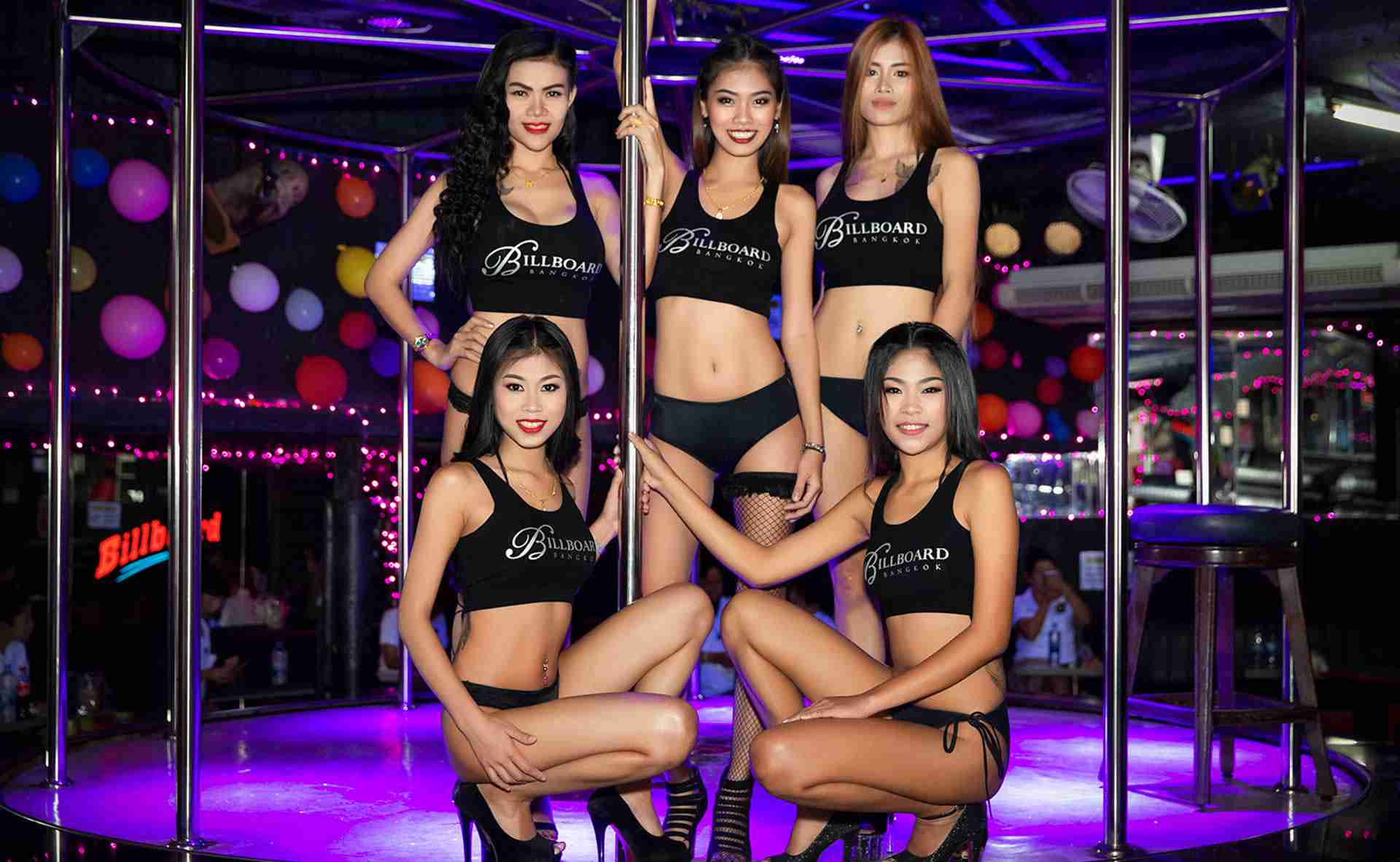 Billboard Bangkok Nana Plaza Thailand Girls Group Shot