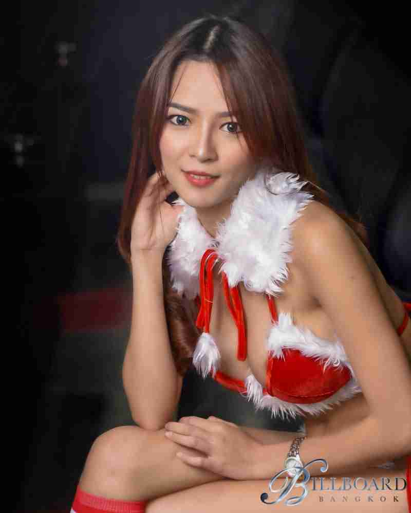 Billboard Bangkok Sexy Santa's Helper Elf Candy Cane Thai Girls Go-Go Bar Nana Plaza Bangkok