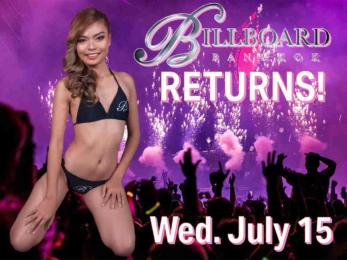 Billboard Bangok Reopens July 15 Nana Plaza Thailand